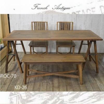 ダイニングテーブルセット 4人 木製 アンティーク カントリー 家具 雑貨 カントリー調 チェア ベンチ
