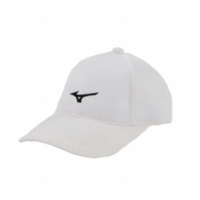 ミズノ テニス キャップ (62JW850070) : ホワイト×ブラック MIZUNO