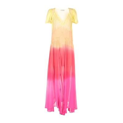 アティコ THE ATTICO ロングワンピース&ドレス イエロー 36 シルク 100% ロングワンピース&ドレス
