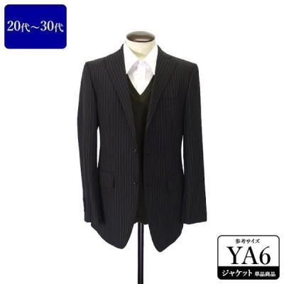 スーツカンパニー ジャケット メンズ YA6体 Lサイズ 黒/ブラック 春夏向き テーラードジャケット 中古 テレワーク UDKB01