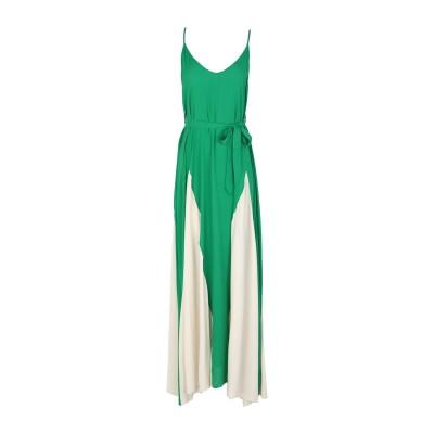 SUOLI ロングワンピース&ドレス グリーン 42 レーヨン 100% ロングワンピース&ドレス