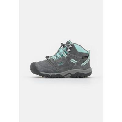 キーン キッズ スポーツ用品 RIDGE FLEX MID WP UNISEX - Hiking shoes - grey/blue tint