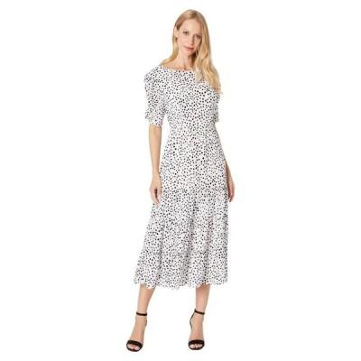 ビービーダコタ レディース ワンピース トップス Something About Dots Flocked Dot Tiered Midi Dress
