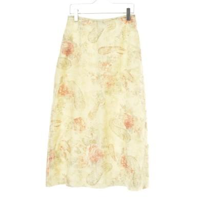 SCAPA / スキャパ ローズ柄リネンマキシ スカート