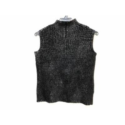 スペッチオ SPECCHIO ノースリーブセーター サイズ40 M レディース 黒 ラメ【中古】20200916