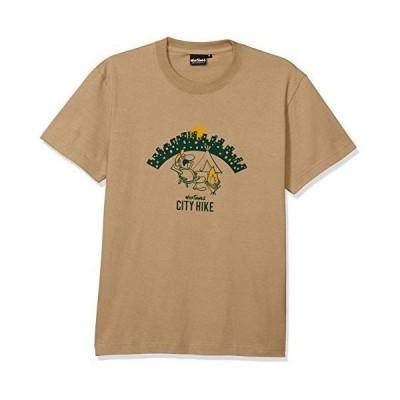 [ワイルドシングス] CITY HIKE Tシャツ プリントT メンズ WT20047K SANDKHAKI 日本 L (日本サイズL相当)