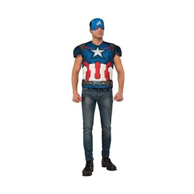 Rubie's Avengers Age Of Ultron Adult Captain America Muscle Chest Costume Top and Mask, As Shown, X-Large[並行輸入品]