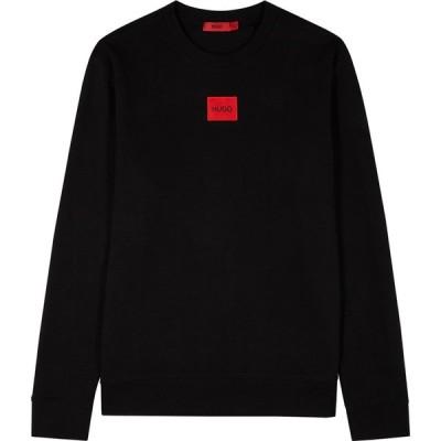 ヒューゴ ボス HUGO メンズ スウェット・トレーナー トップス Diragol black logo cotton sweatshirt Black