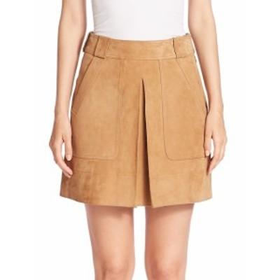 ヴィンス レディース スカート Suede Inverted Pleat Mini Skirt