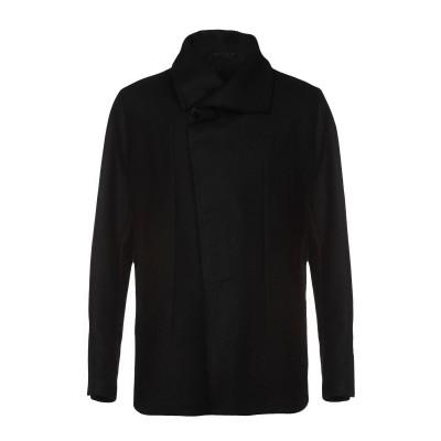 OVERCOME コート ブラック 48 80% バージンウール 20% ナイロン コート