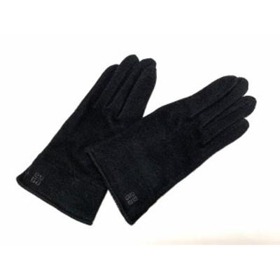 ジバンシー GIVENCHY 手袋 レディース 美品 - 黒 ウール×ナイロン×カシミヤ【中古】20210210