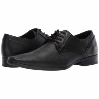 カルバンクライン Calvin Klein メンズ 革靴・ビジネスシューズ シューズ・靴 Benton Black Small Grid Embossed