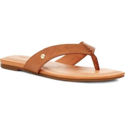 アグ UGG レディース ビーチサンダル シューズ・靴 Tuolumne Flip Flop Almond Leather