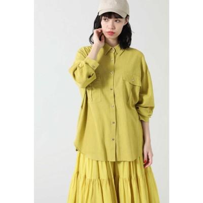 <ViVi 6月号掲載>リネンカラーシャツ イエロー