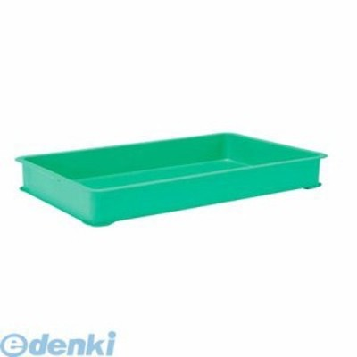 [4836620] EBM PPカラー番重 B型 特大 グリーン(サンコー製) 4548170140
