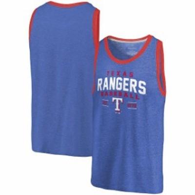 Fanatics Branded ファナティクス ブランド 服 タンクトップ Fanatics Branded Texas Rangers Royal/Red Ringer Tri-Blend Tank Top