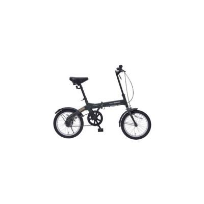 マイパラス 折りたたみ自転車 16インチ(グリーン) MYPALLAS M-100-GR 返品種別B