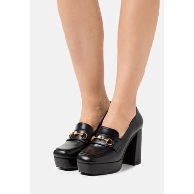 レイド ヒール レディース シューズ ESTERA - Platform heels - black