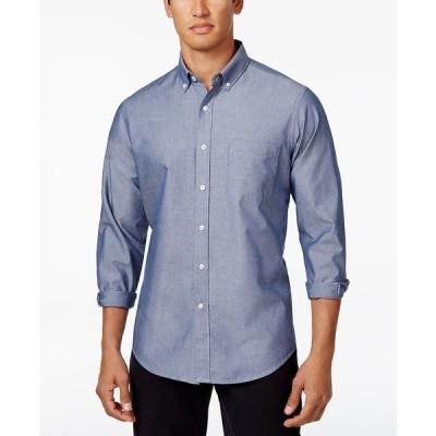 クラブルーム シャツ トップス メンズ Men's Solid Stretch Oxford Cotton Shirt Fresh Indigo