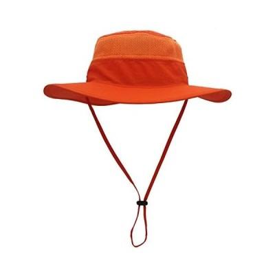Leekerry ハット ユニセックス フリーサイズ 55-62cm 10色 帽子紫外線対策 熱中症予防 (オレンジ 56-62cm)
