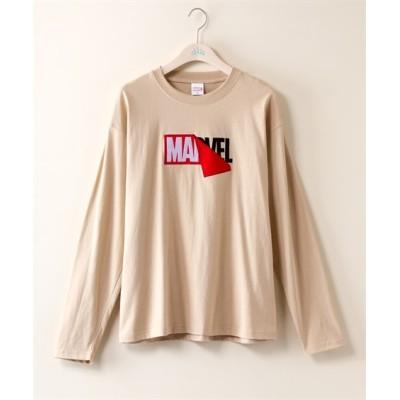 【大きいサイズ】 マーベル 天竺長袖プルオーバー plus size T-shirts, テレワーク, 在宅, リモート