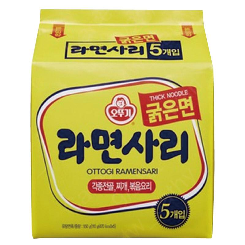 韓國不倒翁Q拉麵(純粗麵條)110g*5