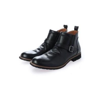 ブラッチャーノ Bracciano サイドゴア ベルトショートブーツ (BLACK)