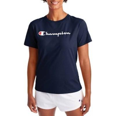 チャンピオン レディース シャツ トップス Champion Women's Classic T-Shirt Athletic Navy