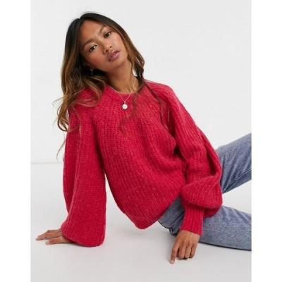 イン ウェア レディース ニット&セーター アウター In Wear Saria wool blend sweater in pink Pink lov
