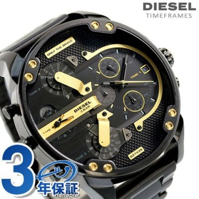 ディーゼル 時計 メンズ ミスターダディ 2.0 57mm DZ7435 DIESEL 腕時計 MR DADDY 2.0 オールブラック 黒