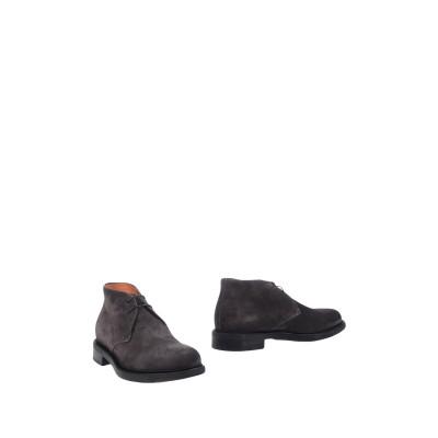 SANTONI ショートブーツ 鉛色 5 革 ショートブーツ