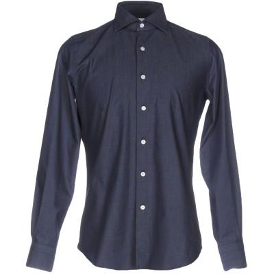 MASSIMO LA PORTA シャツ ブルー 38 コットン 100% シャツ