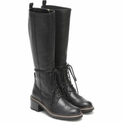 クロエ Chloe レディース ブーツ シューズ・靴 Franne Leather Knee-High Boots Black