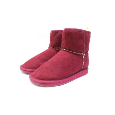 【中古】未使用品 ロペピクニック ROPE Picnic ショートブーツ フェイクムートンブーツ 靴 シューズ L 赤 レッド /Z レディース 【ベクトル 古着】