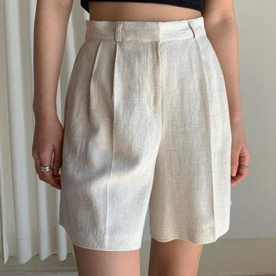 ENVYLOOK レディース ショートパンツ Must Linen Half Pants