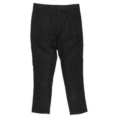 8PM パンツ ブラック XS リネン 100% / コットン / アセテート パンツ