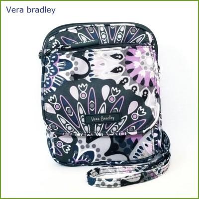 [Vera Bradley]ヴェラ・ブラッドリー ミニ ヒップスター ショルダー バッグ Lighten Up Mini Hipster Mimosa Medallion ミモザ メダリオン グレー系 軽量 薄型