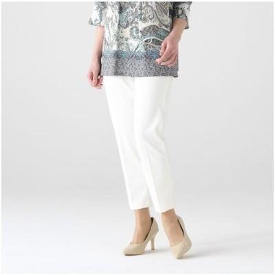 LOBJIE/ロブジェ センタープレスのキレイ目好印象パンツ ホワイト 15