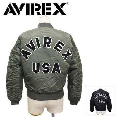 AVIREX (アヴィレックス) 6202051 MA-1 COMMERCIALOGO エムエーワン コマーシャル ロゴ レディース フライトジャケット 全2色
