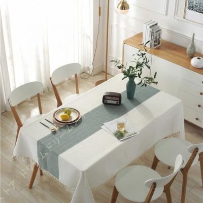 テーブルクロス モダンファッション タッセルテーブルクロス 洗濯可能 防塵 撥水 防水 タッセル テーブルクロス 長方形テーブル キッチン用 ダイニング用