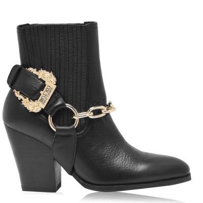 ヴェルサーチ VERSACE JEANS COUTURE レディース ブーツ カウボーイブーツ シューズ・靴 Cowboy Boots Black