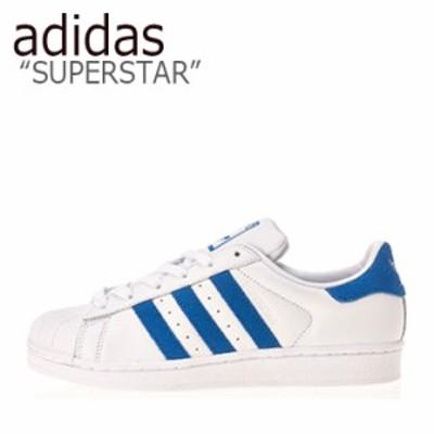 アディダス スーパースター スニーカー adidas メンズ レディース SUPERSTAR WHITE BLUE ホワイト ブルー EE4474 シューズ