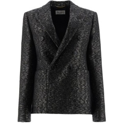 SAINT LAURENT PARIS/イヴ サンローラン Mixed colours Saint laurent sequined tweed blazer レディース 秋冬2020 611054 Y3B68 ik