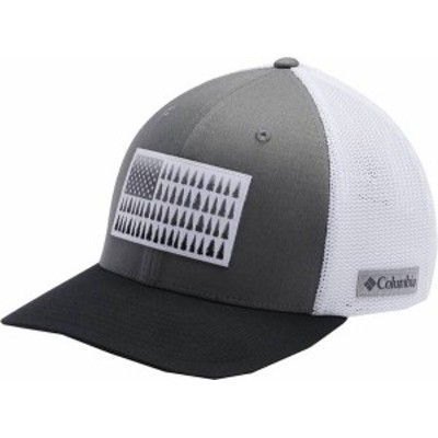 コロンビア メンズ 帽子 アクセサリー Columbia Men's Mesh Tree Flag Ball Cap Titanium/White/Black