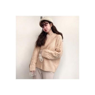 【送料無料】セーターの女性 荷重 秋冬 年 ルース オーバーサイズ 丸襟 長袖セーター 学生 | 364331_A63648-8977694
