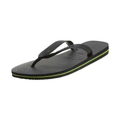 [ハワイアナス] Brazil Black Rubber Sandal - 7M / 6M