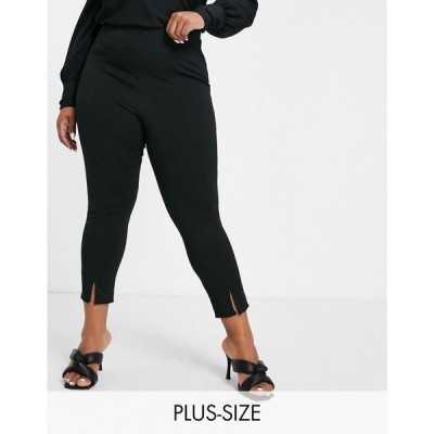 ユアーズ Yours レディース ボトムス・パンツ ponte tapered trousers in black ブラック
