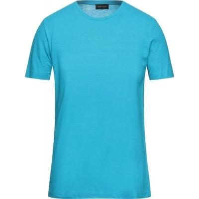ロベルトコリーナ ROBERTO COLLINA メンズ Tシャツ トップス t-shirt Turquoise