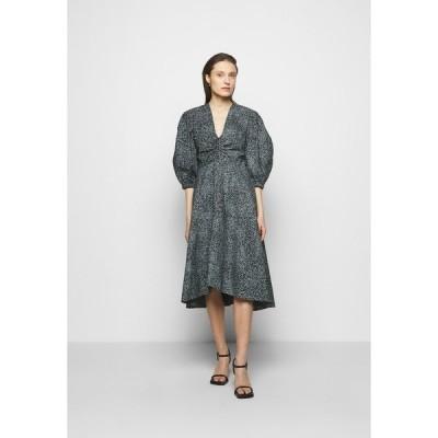 プロエンザ スクーラー ホワイト レーベル ワンピース レディース トップス EXAGGERATED SLEEVE FITTED DRESS - Day dress - steel blue/black