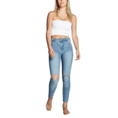 コットンオン レディース デニムパンツ ボトムス Mid Rise Cropped Skinny Jeans VENICE BLUE RIP